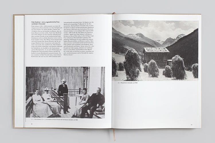 Doppelseite aus dem Buch «100/125. Von der Liegekur zur modernen Rehabilitation»