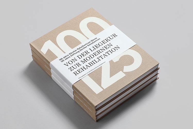 Cover des Buches «Buchzusammenfassung «100/125. Von der Liegekur zur modernen Rehabilitation»»